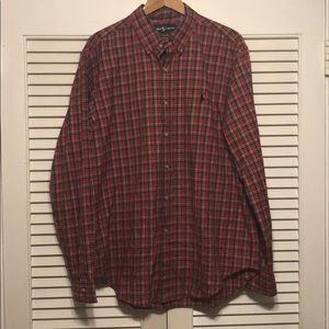 Polo Ralph Lauren Plaid Casual Button Down Shirt.